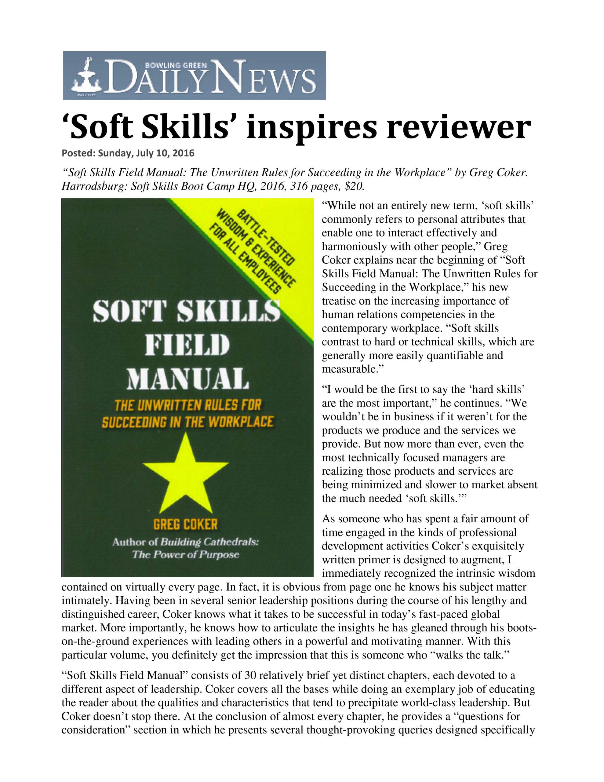 Praise for Soft Skills Bootcamp